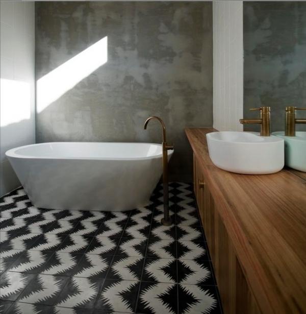 модерни-вани-баня-сиво-кафяво