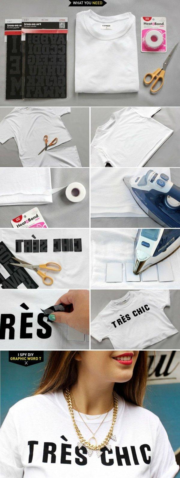 направи си сам декорация тениска надпис идея