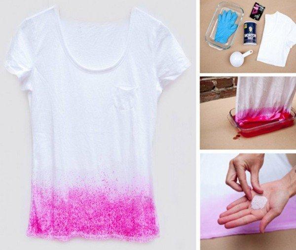 направи си сам декорация тениска идеи омбре
