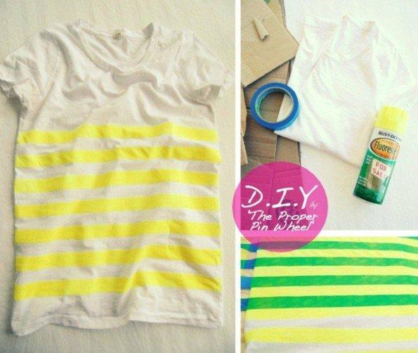 направи си сам декорация тениска идеи райета