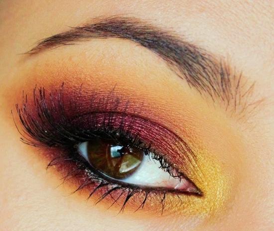 опушен-грим-за-очи-жълто-лилаво