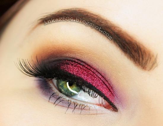 опушен-грим-за-очи-розово-лилаво
