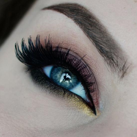 опушен-грим-за-очи-черно-розово-жълто