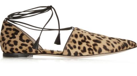 пантофки връзки за есента леопардови