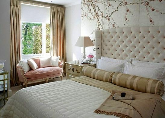 завеси пердета за спалня класически стил бежово бяло обзавеждане