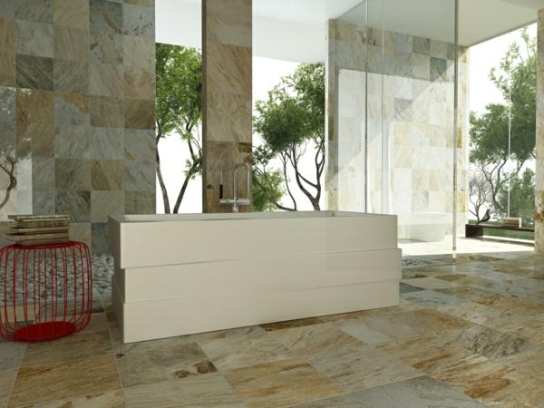 плочки за баня бежово сиво стъкло вана дизайн