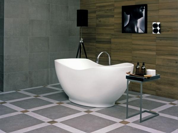 плочки за баня бяло сиво вана обзавеждане