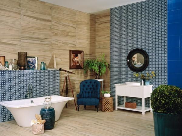плочки за баня в сиво и бежово интериор вана