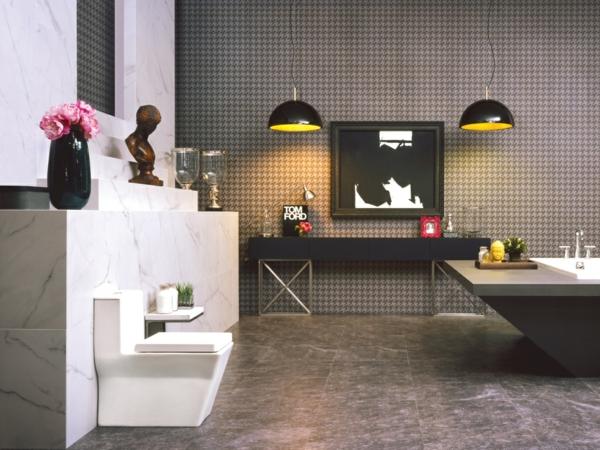 плочки-за-баня сиво дизайн-мебели-вана-мивка