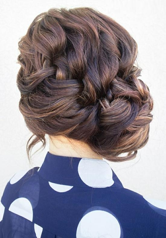 прически прибрана коса плитка