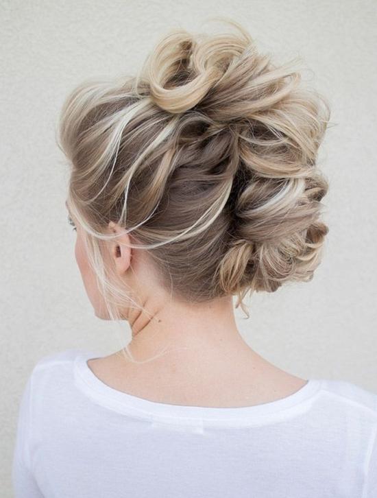 прически прибрана коса