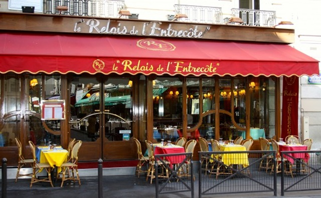 ресторанти в париж ле реле дел енрекот