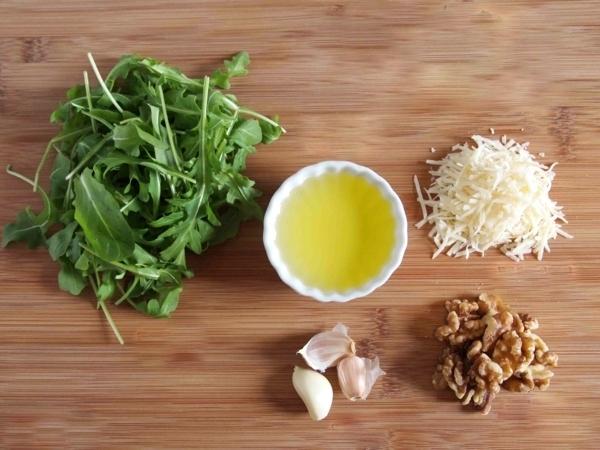 рецепта за песто рукола продукти