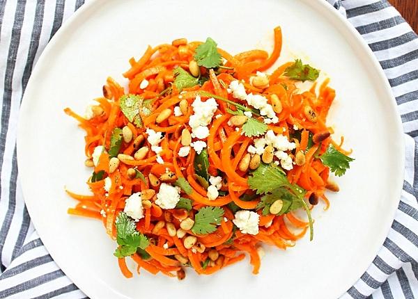 рецепти за летни салати моркови фета ядки