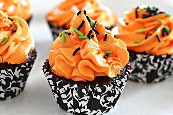 рецепти за мъфини за хелуин оранжева глазура