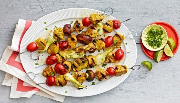 рецепти за пикник шишчета свинско зеленчуци къри