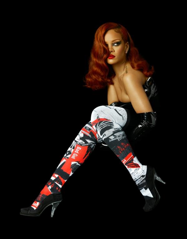 риана стана дизайнер на чорапи