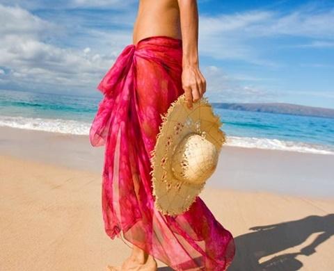 парео розово плаж