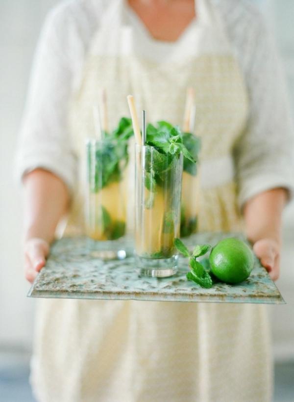 сватба в жълто зелено коктейли