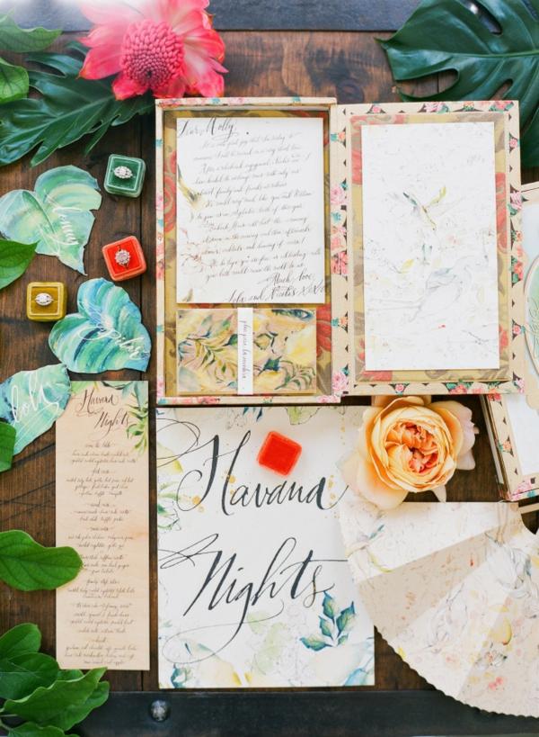 сватба в жълто зелено покани