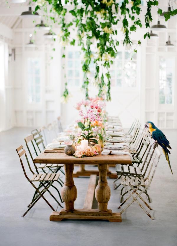 сватба в жълто зелено декорация