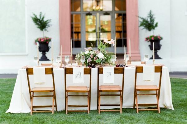 сватба в розово маса