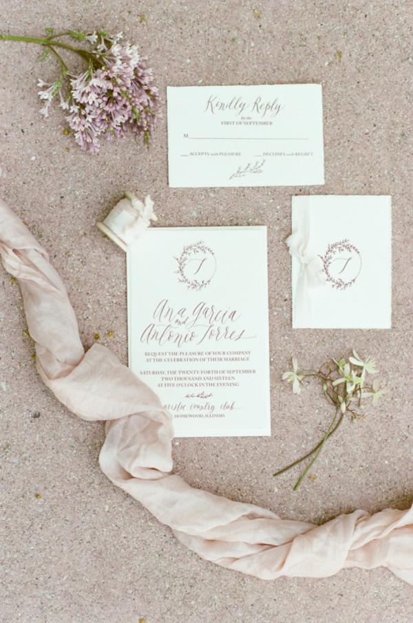 сватба в розово покани
