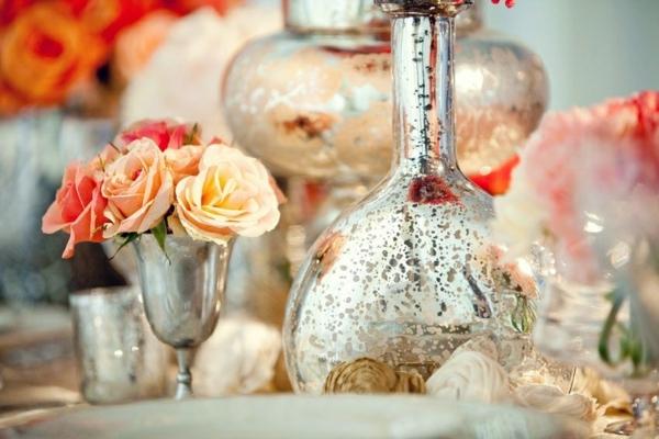 сватбена украса за маса цветя