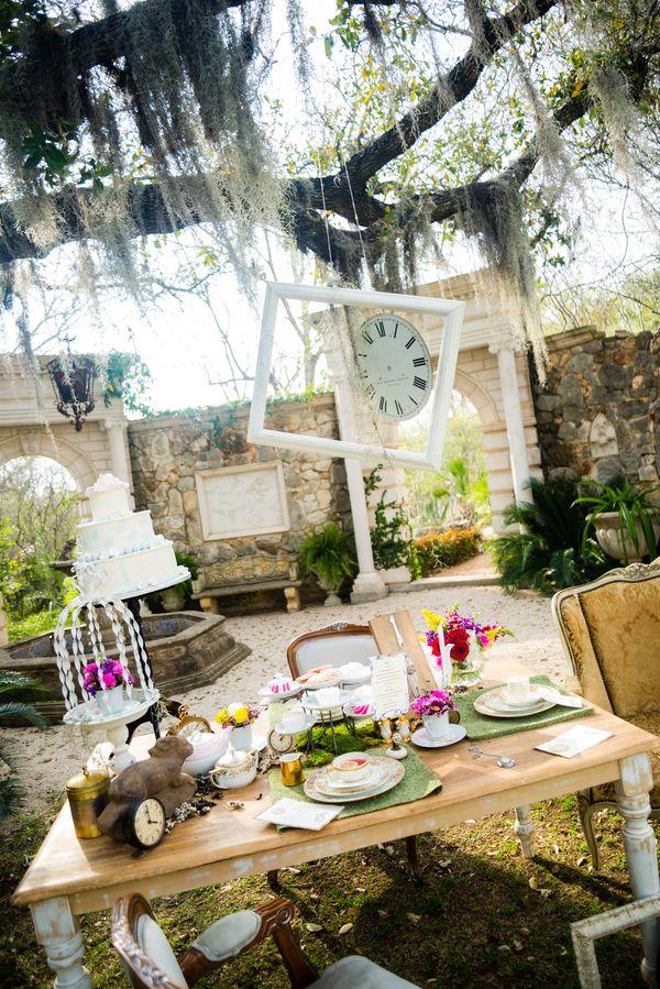 сватбена украса за маса градина