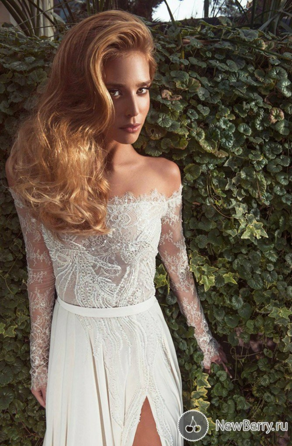 сватбени рокли  дълъг ръкав дантела