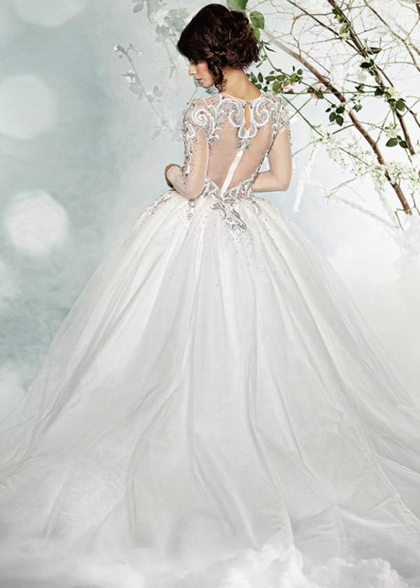 сватбени рокли  дълъг ръкав тюл
