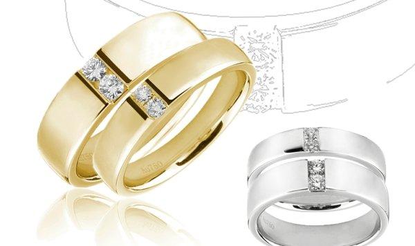 сватбени халки бяло жълто злато идеи модел