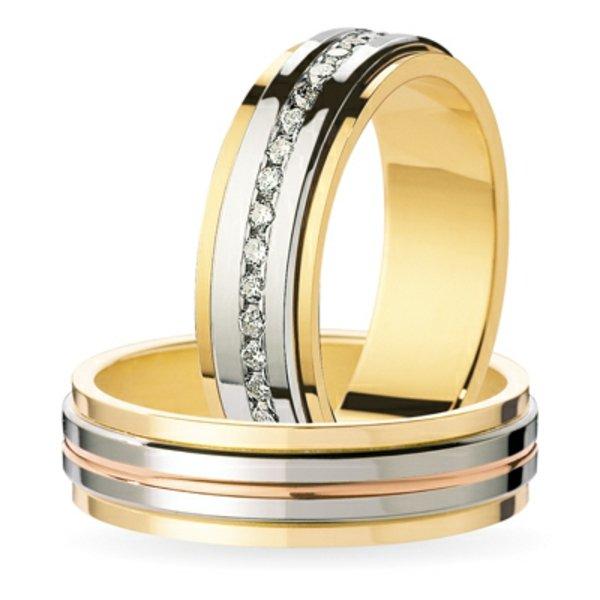 сватбени халки бяло жълто злато идеи