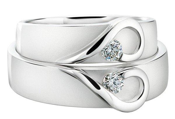 сватбени халки бяло злато идеи модел