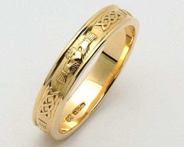 сватбени-халки-жълто-злато-модел