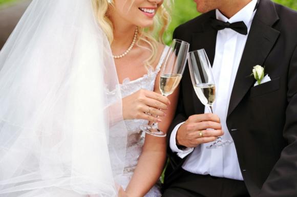 Сватбени чаши за шампанско