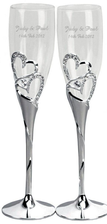 сватбени-чаши-декорация-сърца-камъни