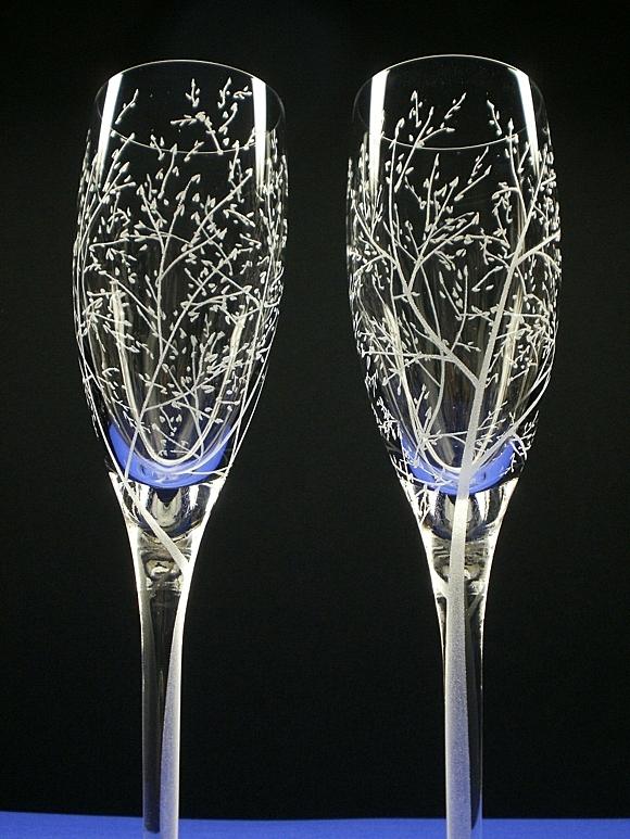 сватбени-чаши-декорация-листа