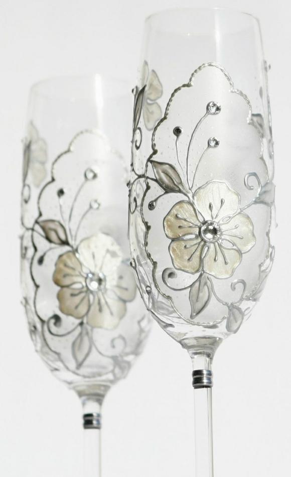сватбени-чаши-стъклопис-цветя