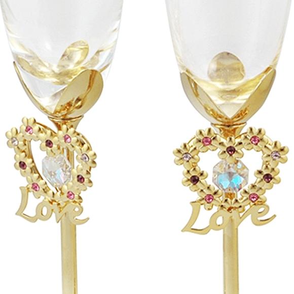 сватбени-чаши-декорация-камъни