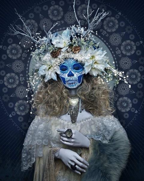 страшни маски хелоуин ла муертас