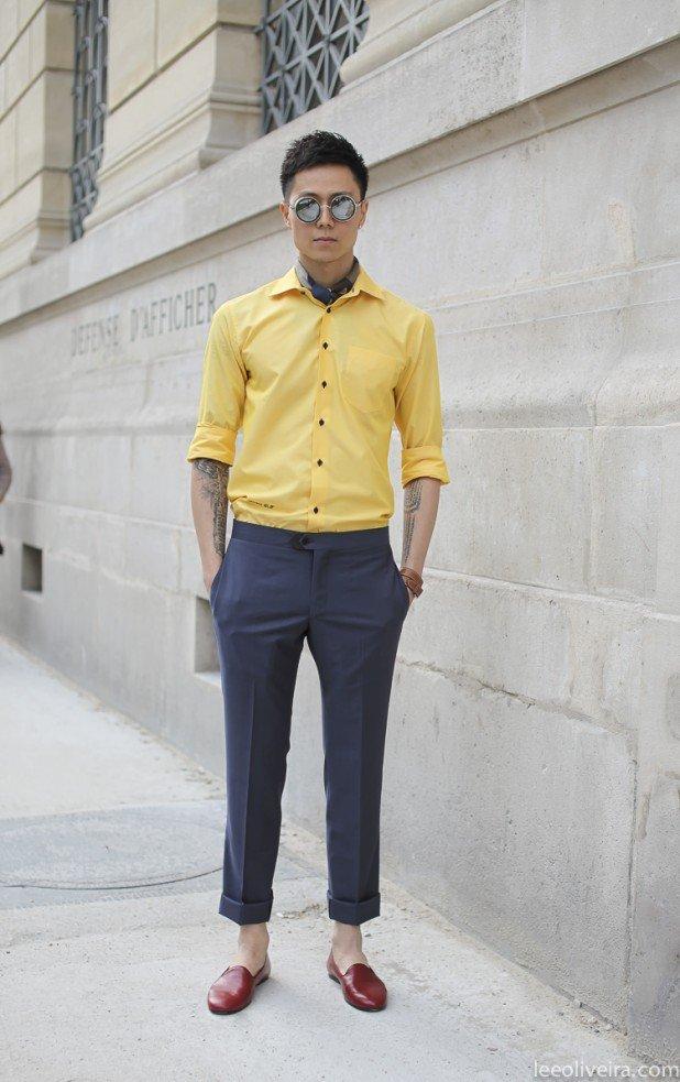 стрийт стайл жълта риза