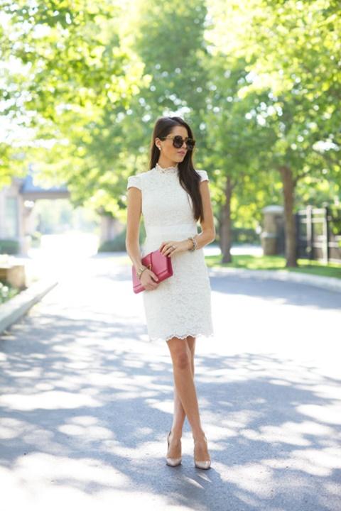 стрийт-стайл-малка-бяла-рокля-от-дантела