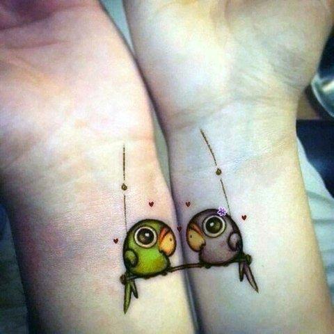 татуировки-за-двойки-птици
