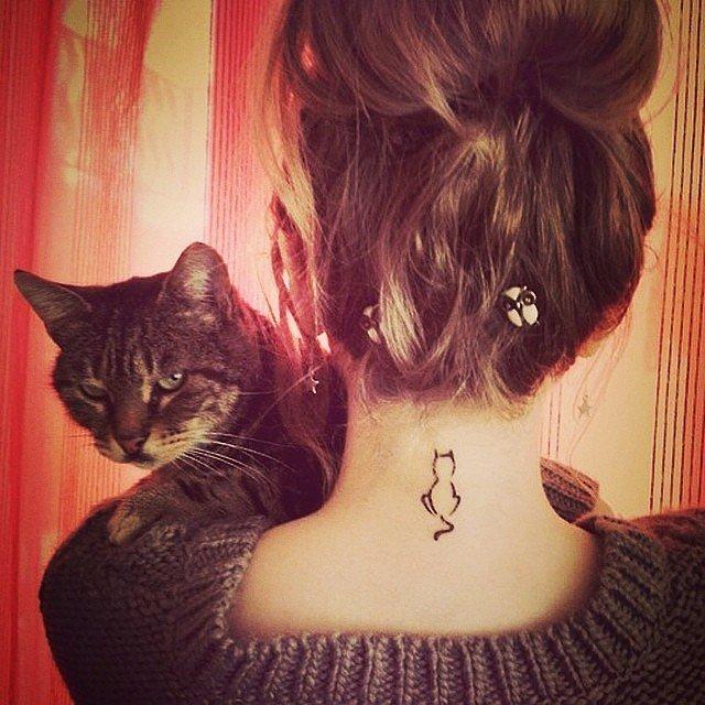 татуировки-за-жени-котка