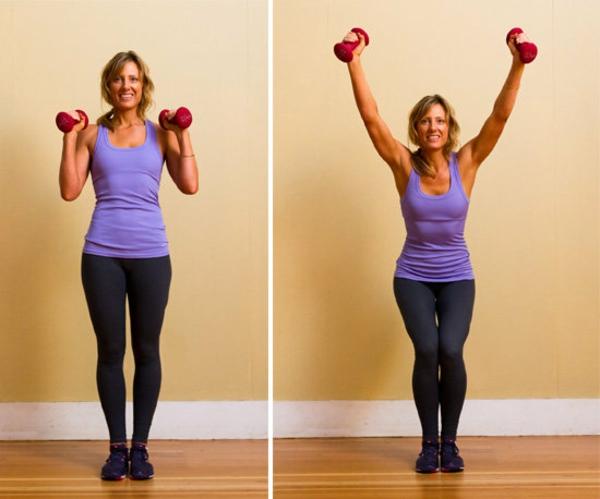упражнения стегнати бедра гири