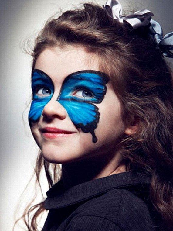 Хелоуин грим деца пеперуда