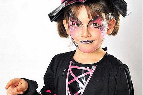 Хелоуин грим деца вещица