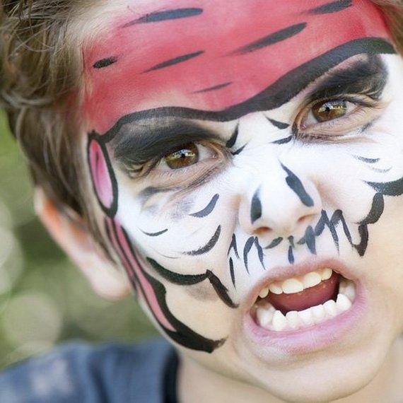 Хелоуин грим деца тигър