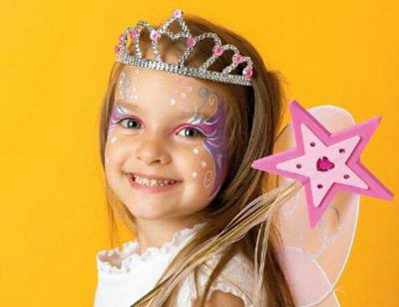 Хелоуин грим за деца принцеса